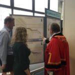Sietske explaining her Brexit Maps to the Mayor of Hillingdon