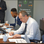 Brexit Help presenting at World First boardroom